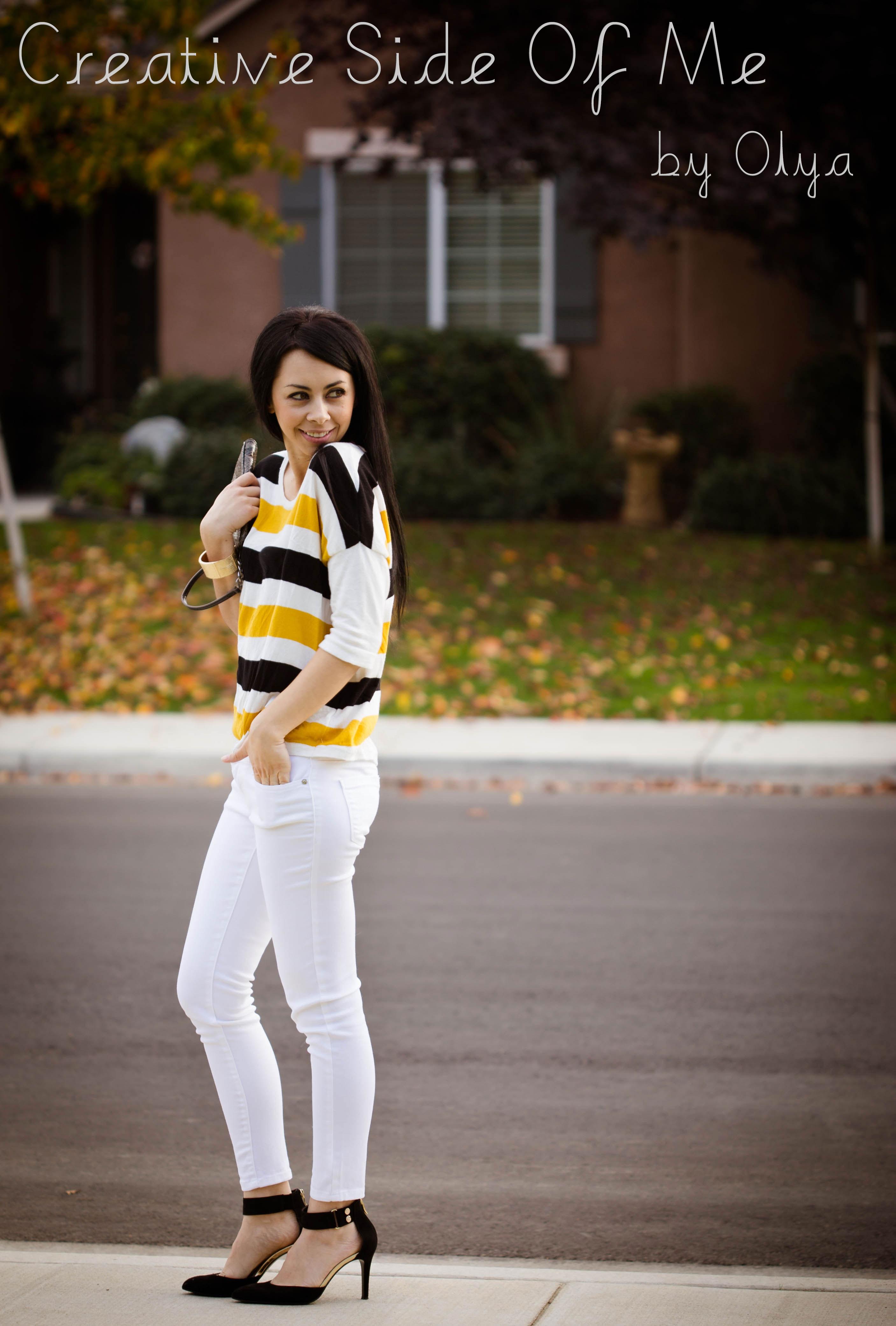 White And Yellow Heels